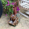 """24"""" Vintage Red Water Pump With Wheelbarrow Fountain Small - Alpine Corporation - image 2 of 4"""