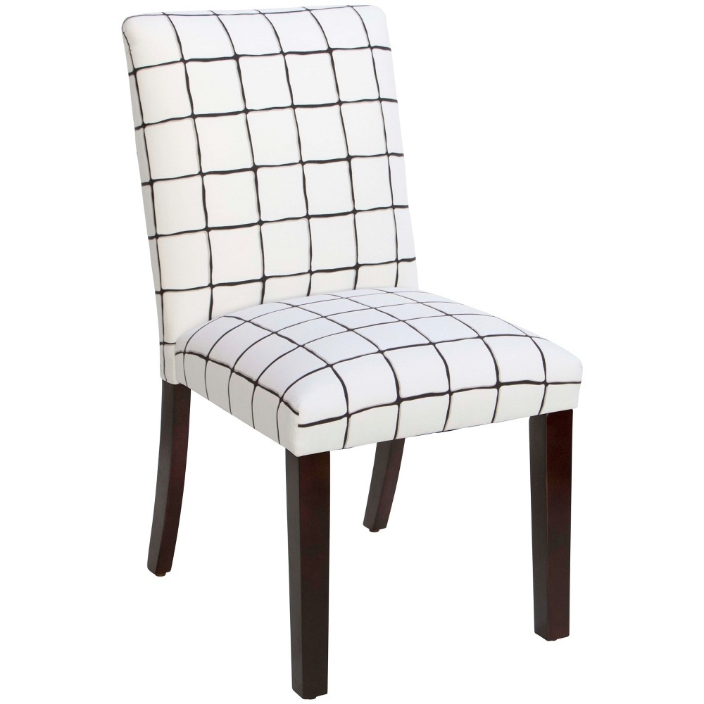 Printed Parsons Dining Chair White/Black Check - Threshold