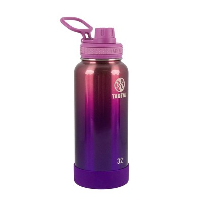 Takeya 32oz Actives Insulated Stainless Steel Water Bottle with Spout Lid - Pink
