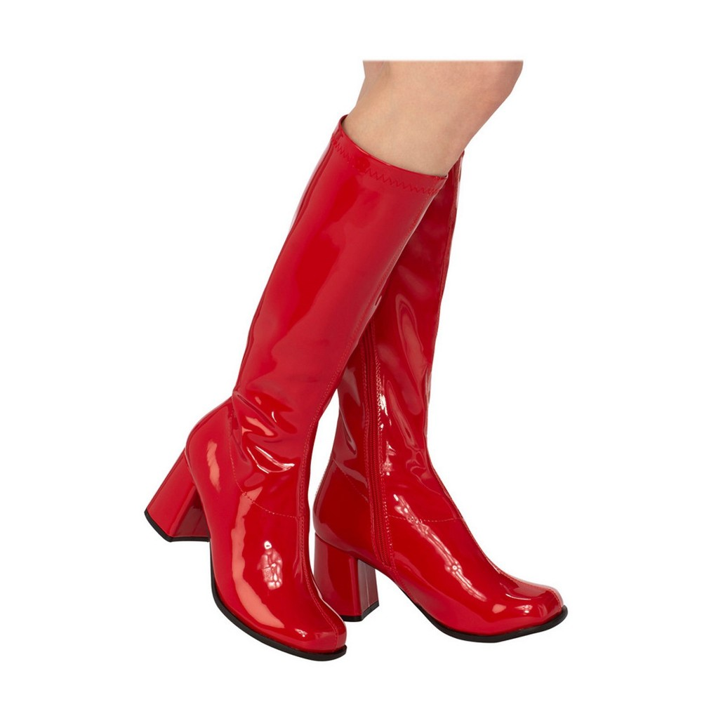 Women's GoGo Costume Boots - Red 9, Size: 9 Shoe