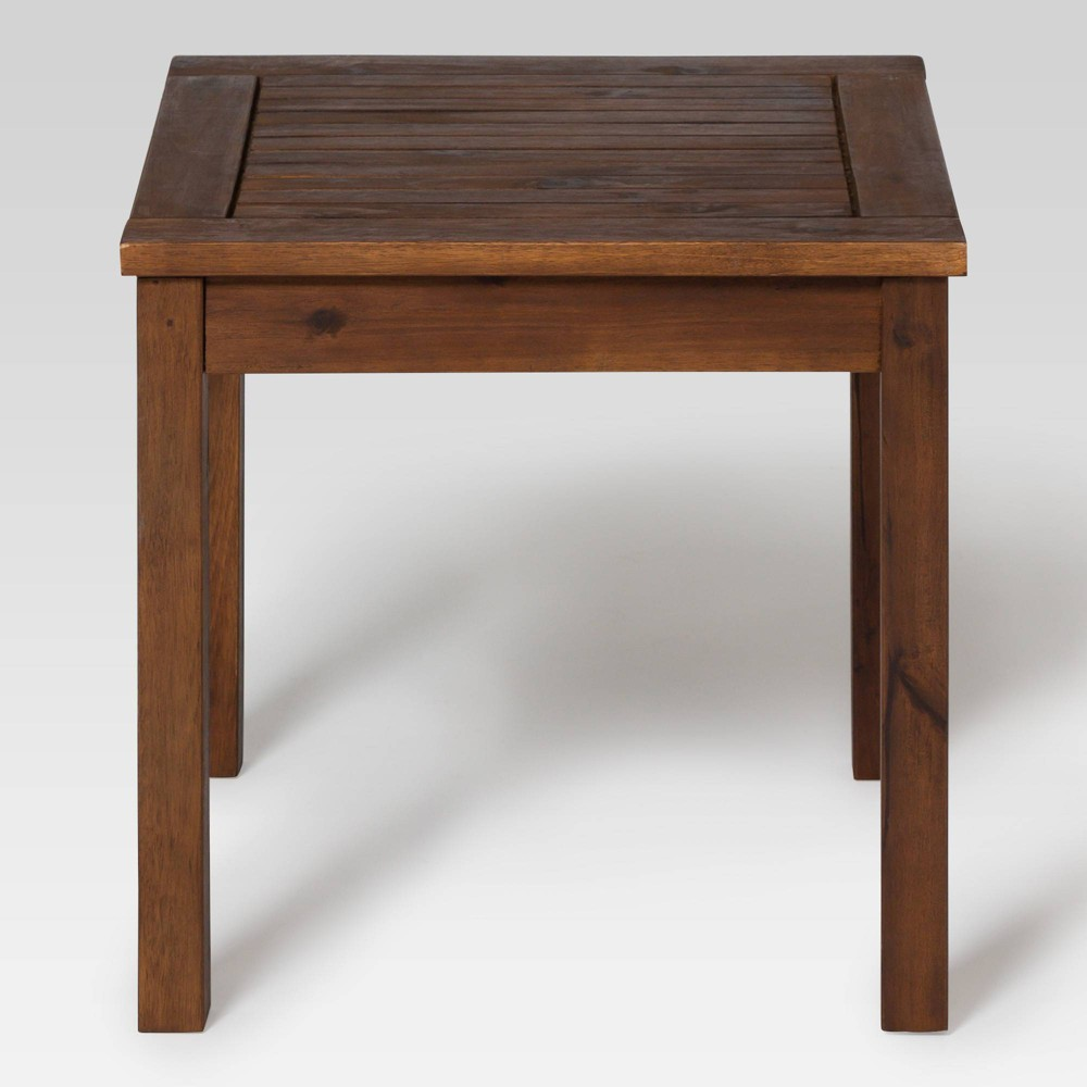 """Image of """"20"""""""" Wood Patio Simple Side Table Espresso Brown - Saracina Home"""""""