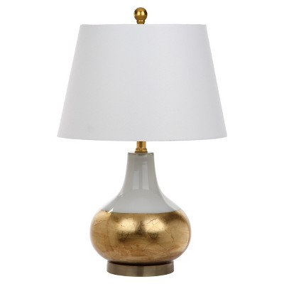 Nice Nova White/Gold Glass Table Lamp Set Of 2   Safavieh : Target