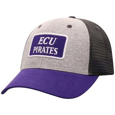 NCAA East Carolina Pirates Men's Gray Cotton with Mesh Snapback Hat