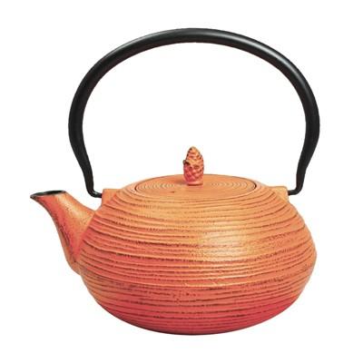 """Frieling """"Mo Yo"""", Cast Iron Teapot, 40 fl. oz. , Orange"""