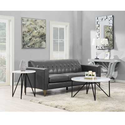 4d0c7cba41 Kinsler Round Coffee Table White - Picket House Furnishings : Target