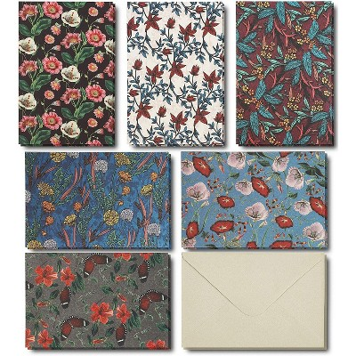 Paper Junkie 48-Pack Floral Pattern Greeting Cards Blank Notes for Invitations, Business & All Occasions, 4x6 inches