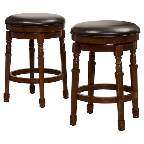 Excellent Paxx Bonded Leather Swivel 25 5 Counter Stool Brown Set Of 2 Chocolate Brown Christopher Knight Home Machost Co Dining Chair Design Ideas Machostcouk