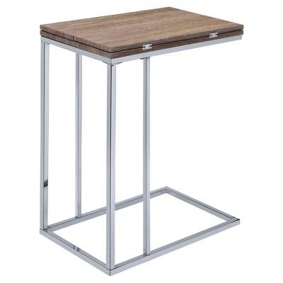 End Table Oak Chrome - Acme Furniture