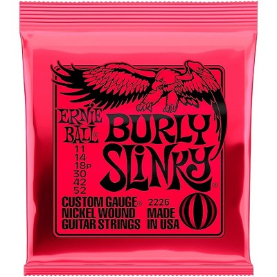 Ernie Ball Burly Slinky Nickel Wound Electric Guitar Strings (11-52)