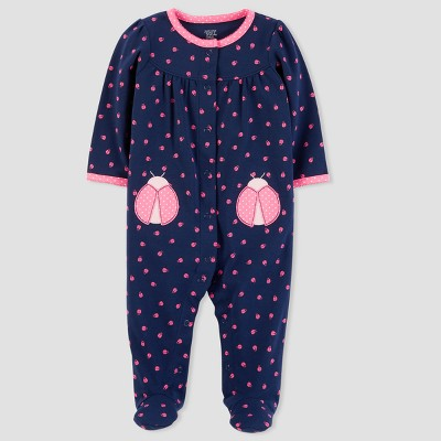 Baby Girls' Ladybug Sleep N' Play - Just One You® made by carter's Navy 3M
