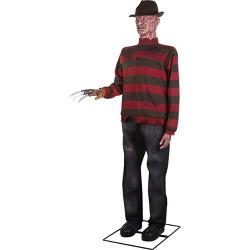 Gemmy Life Size Animated KD Freddy Krueger WB, Black