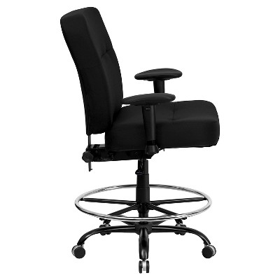 Etonnant Capacity Big U0026 Tall Drafting Chair Extra Wide Seat Black   Flash Furniture  : Target