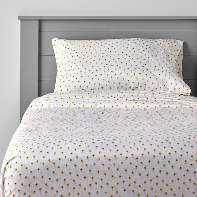 Ditzy Sunflower Microfiber Sheet Set - Pillowfort™