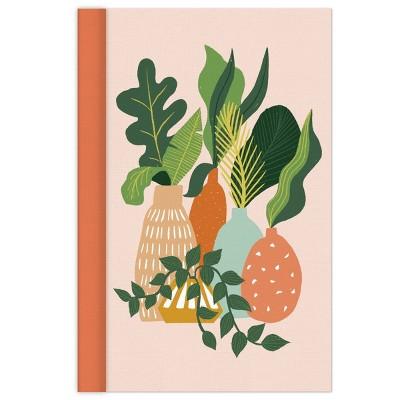 Ruled Journal Hardcover Sewn Houseplant - Green Inspired