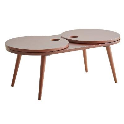 "13"" Lazy Susan Coffee Table Espresso - Ore International"