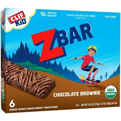CLIF Kid ZBAR Organic Chocolate Brownie Snack Bars