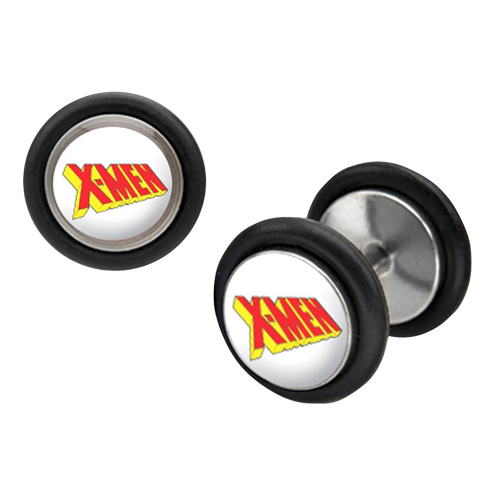 Marvel X-Men Stainless Steel Screw Back Earrings You can wear these classic silver earring by X-Men to your next everyday,fashion,casual. Color: Stainless Steel. Gender: Male. Pattern: Superheroes.
