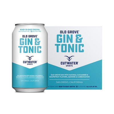Cutwater Old Grove Gin and Tonic Cocktail - 4pk/12 fl oz Cans