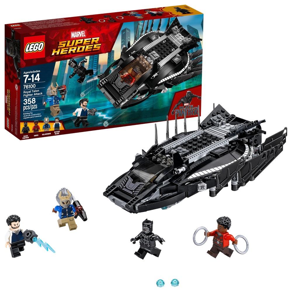 Lego Super Heroes Marvel Black Panther Royal Talon Fighter Attack 76100
