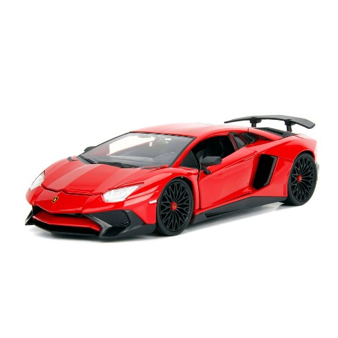 Jada Toys HyperSpec Lamborghini Aventador SV Die-Cast Vehicle 1:24 Scale Glossy Red - image 1 of 4