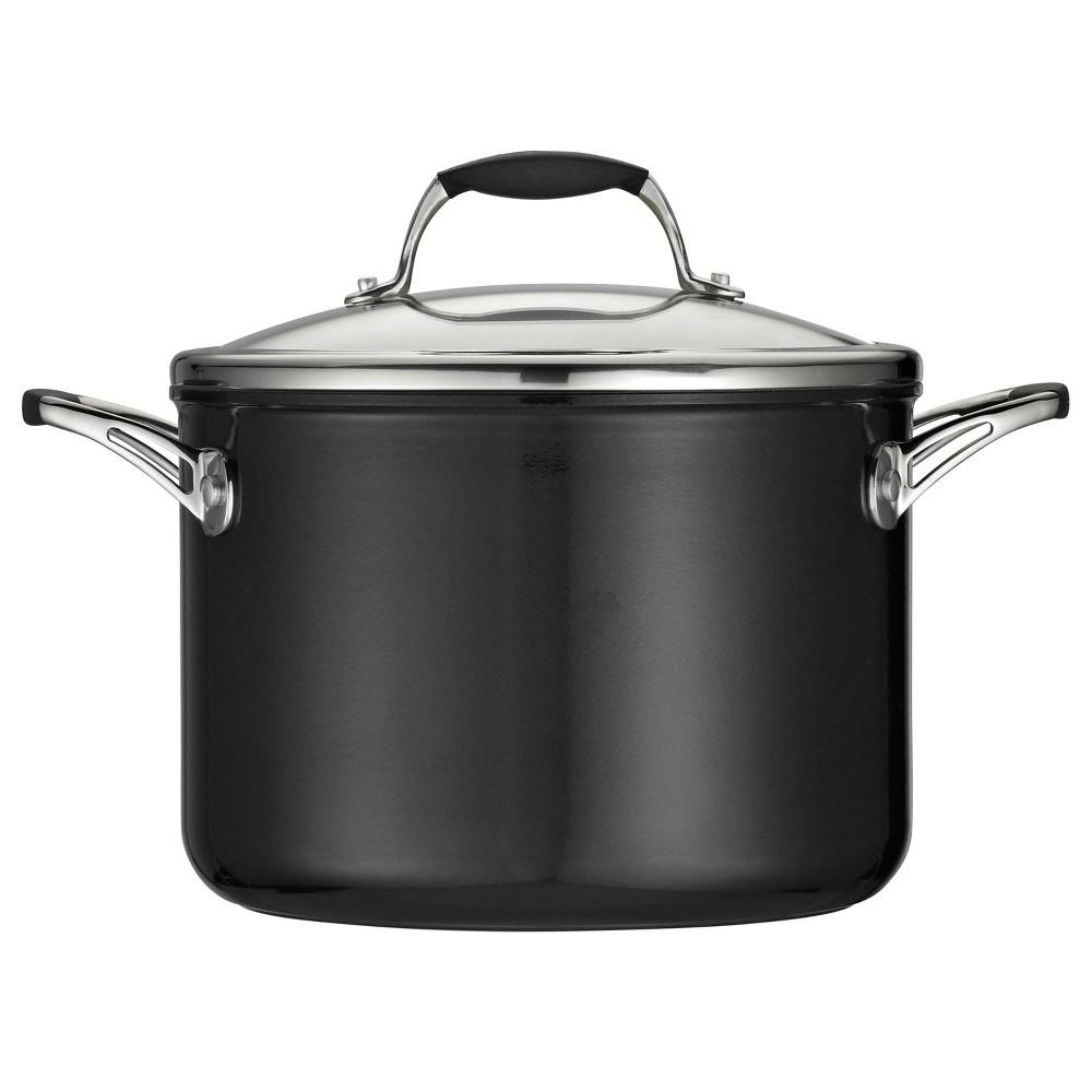 Tramontina Gourmet Ceramica_01 Deluxe 6qt Sauce Pan with Lid Metallic Black