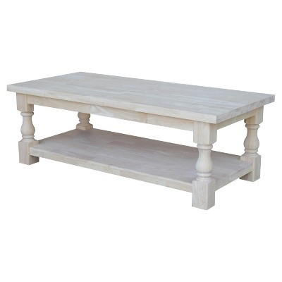 Tuscan Coffee Table - Unfinished - International Concepts