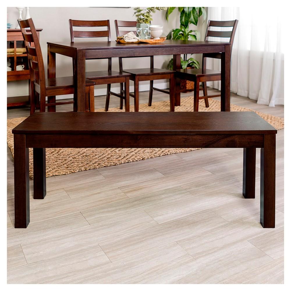 48 Simple Wood Dining Bench - Walnut (Brown) - Saracina Home