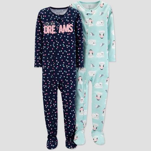 68cbbbfa5 Toddler Girls  Dot Penguin Pajama Set - Just One Yo   Target