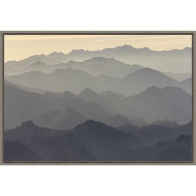 "23"" x 16"" Santa Monica Mountains by Rob Sheppard Danita Delimont Framed Canvas Wall Art - Amanti Art"