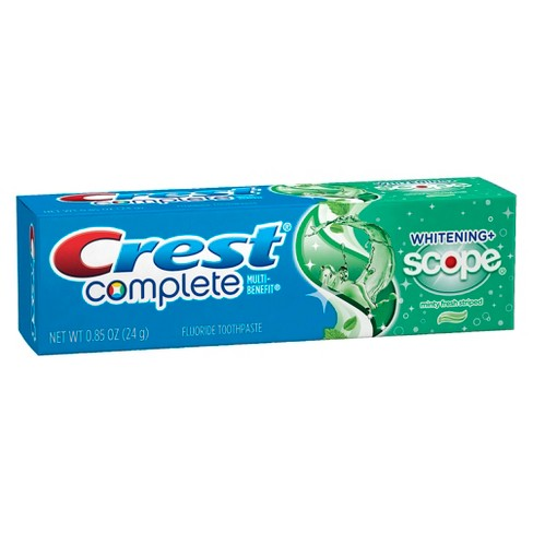 Crest Complete Whitening Plus Scope Multi-Benefit Fluoride Toothpaste Minty Fresh - 0.85oz - image 1 of 2