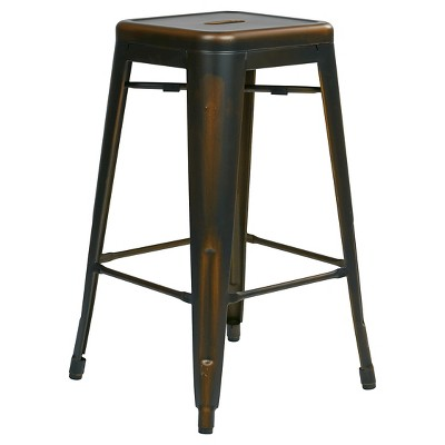 Osp Designs Bristow 26  Antique Metal Barstools - Copper (Set of 2)