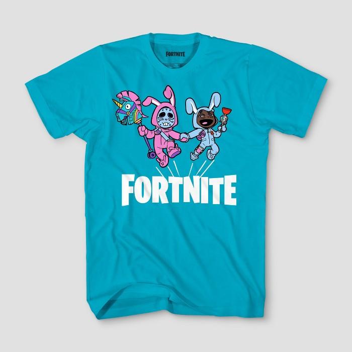 Boys' Fortnite Bunny Trouble Short Sleeve T-Shirt - Turquoise Heather - image 1 of 1