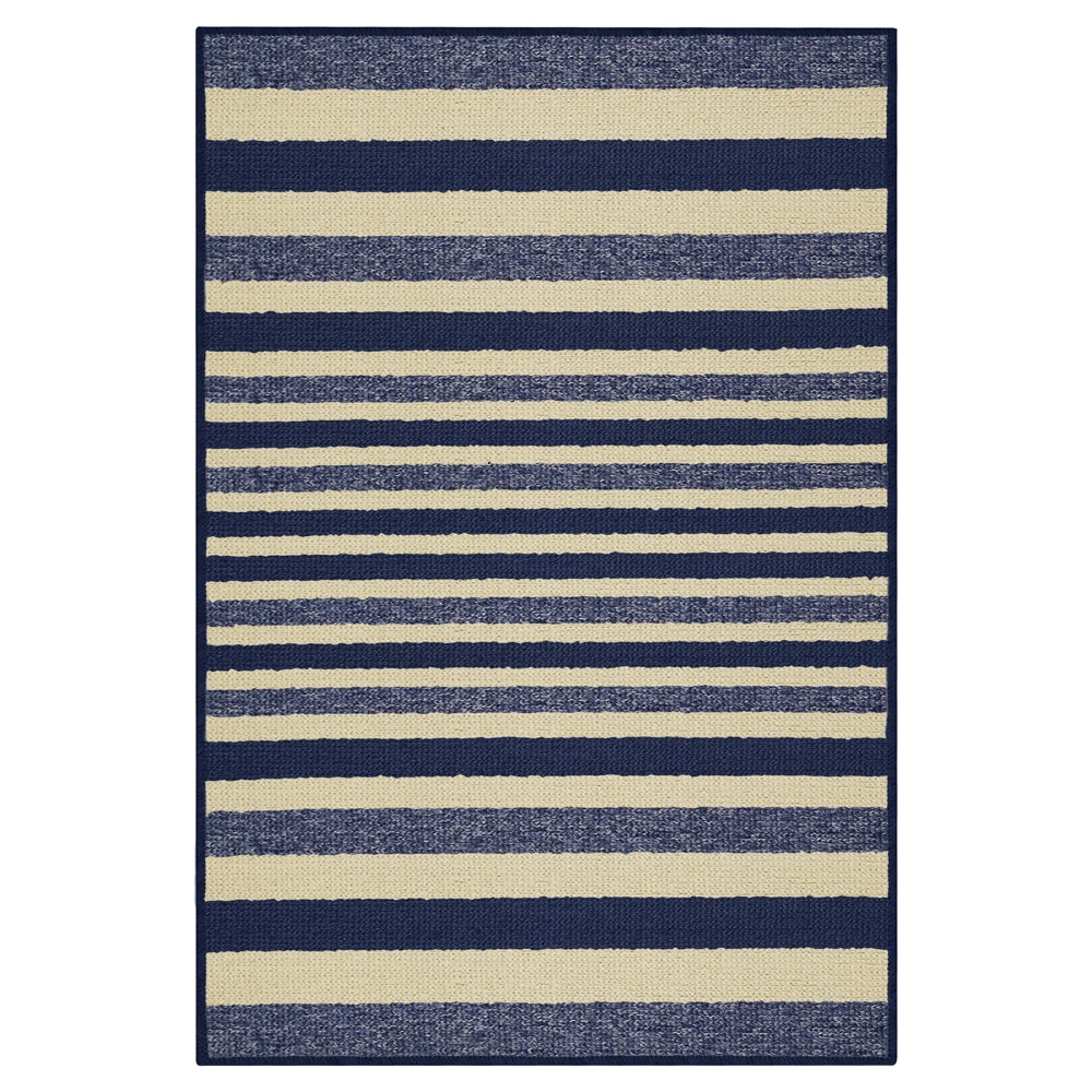 Blue Stripes Washable Doormat - (2'X3'4) - Maples