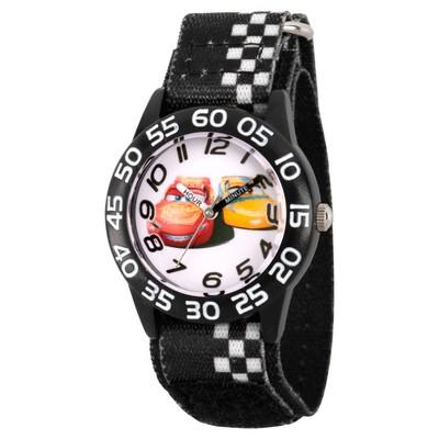Boys' Disney Cars 3 Lightning Mcqueen And Cruz Ramirez Black Plastic Time Teacher Watch - Black