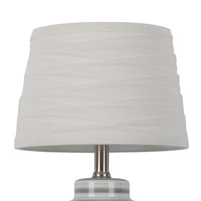 Linen Overlay Modified Drum Small Lamp Shade White - Threshold™