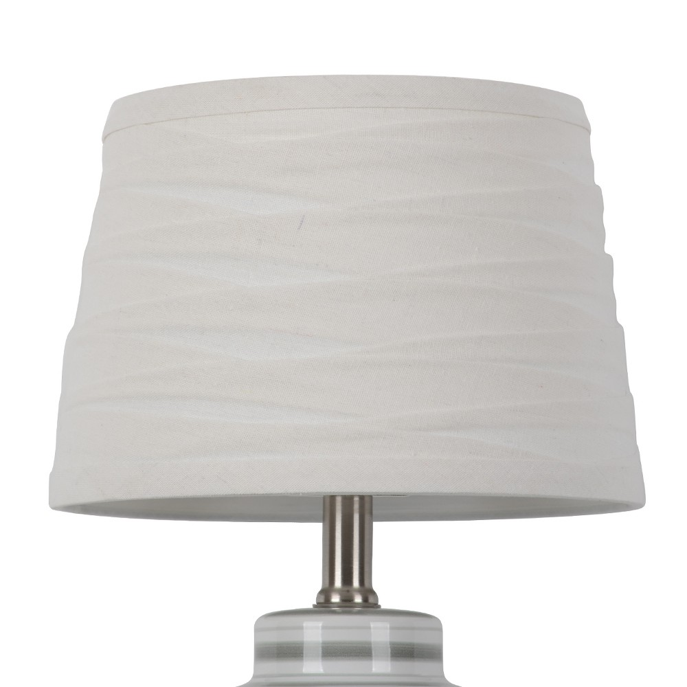 Image of Linen Overlay Modified Drum Small Lamp Shade White - Threshold