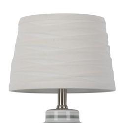 Linen Overlay Modified Drum Lamp Shade White - Threshold™