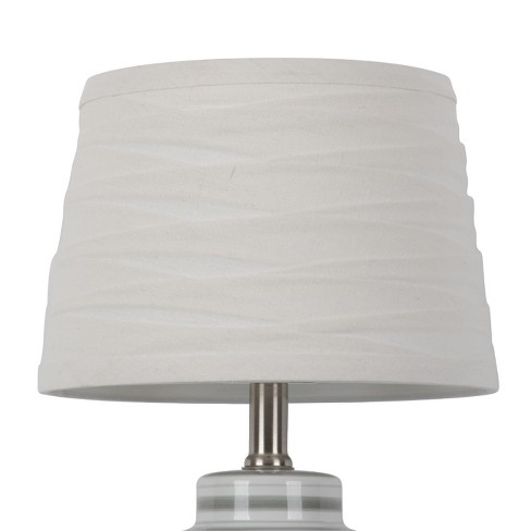 61e759ddba6 Linen Overlay Modified Drum Small Lamp Shade Ivory - Threshold™   Target