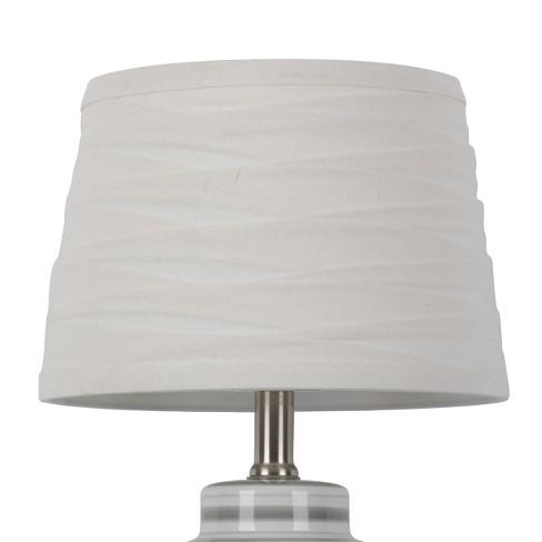 Linen Overlay Modified Drum Lamp Shade White - Threshold™ - image 1 of 3