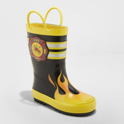 Toddler Boys' Phoenix Rain Boots - Cat & Jack™ Black 9
