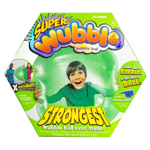 The Amazing SUPER Wubble Bubble Ball with Pump - Green - image 1 of 3