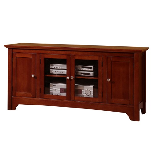 Solid Wood Tv Stand With Doors 52 Saracina Home Target
