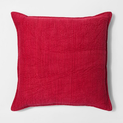 Red Chambray Oversize Throw Pillow - Threshold™