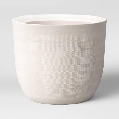 Textured Ceramic Planter White - Project 62™