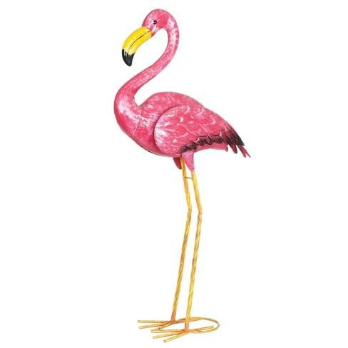 "29.13"" Metal Flamingo Statue Pink - Exhart - image 1 of 4"