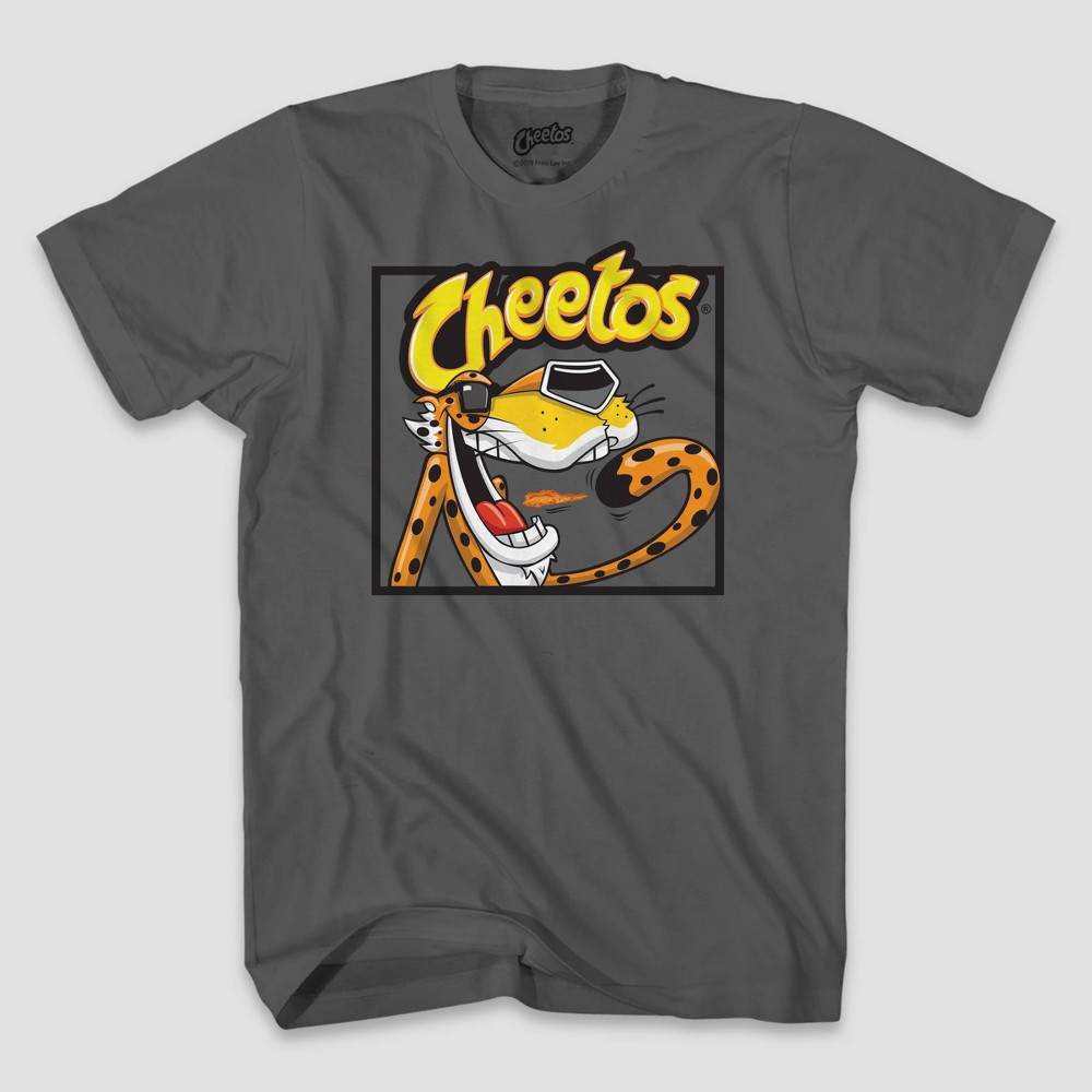 Image of Men's Cheetos Block Short Sleeve Graphic T-Shirt - Charcoal 2XL, Men's, Gray