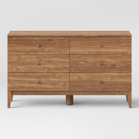 Siegel 6 Drawer Dresser Walnut - Project 62™ - image 1 of 3