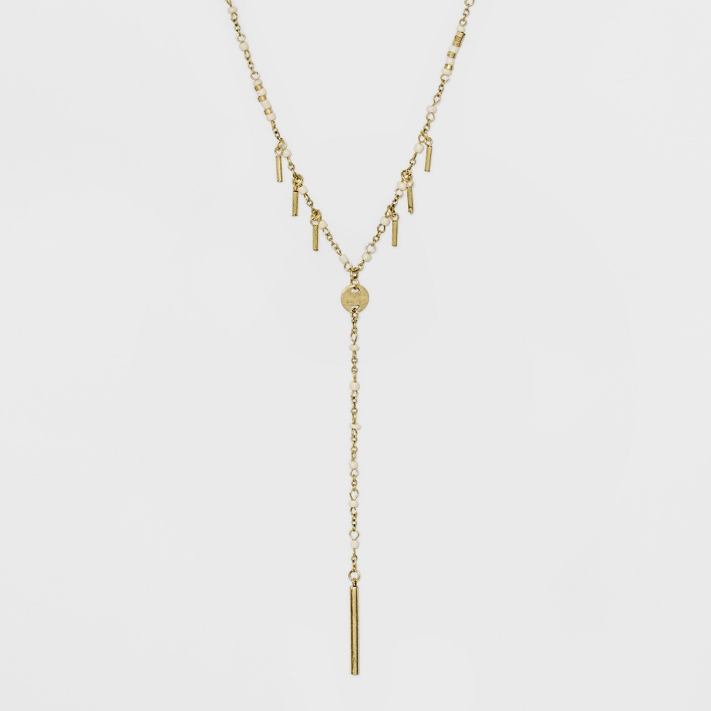 Beaded Y Necklace - Universal Thread Gold