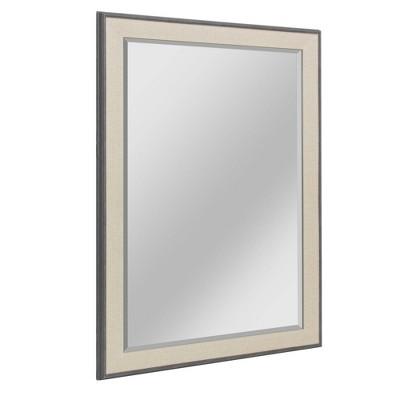 "27.5"" x 33.5"" Textured Mat Liner Frame Mirror Gray - Head West"