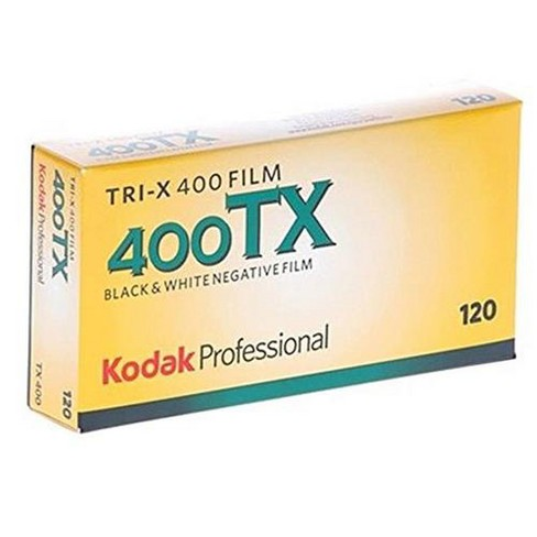 KODAK Tri-X Pan 400, Five (5) Pack of TX 120 Black & White Negative Film ISO 400, 120 Size, - image 1 of 1
